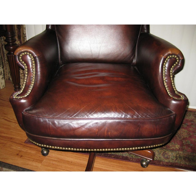 Hooker Leather Office Chair - Image 6 of 10