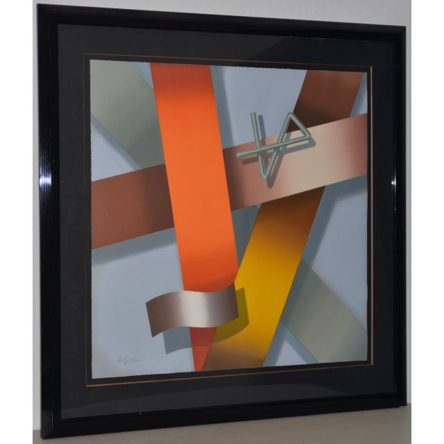 Daniel Heidi Modernist Abstract Serigraph For Sale - Image 10 of 10