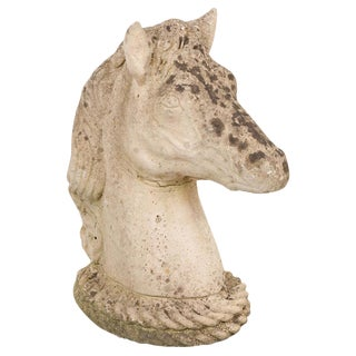 English 19th Century Carved Stone Horse Head For Sale