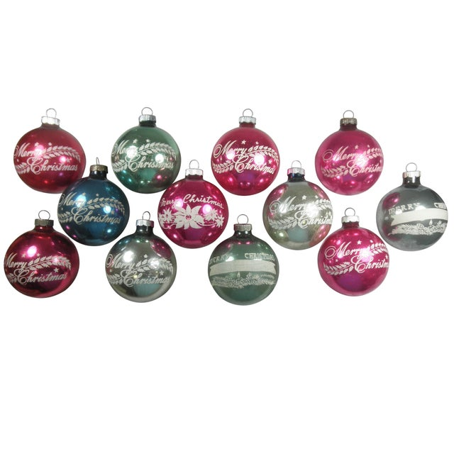 Merry Christmas Stencil Ornaments - Set of 12 - Image 1 of 4