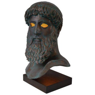 "Modern Illuminated Sculpture of ""Artemision Zeus"" For Sale"