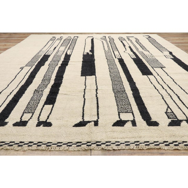 Textile Contemporary Moroccan Rug Inspired by Alberto Giacometti - 10'00 X 13'08 For Sale - Image 7 of 10
