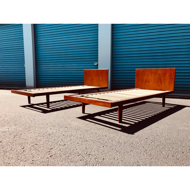 European Twin Hans Wegner Platform Bedframes - a Pair For Sale - Image 10 of 10
