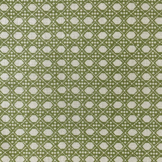 LuRu Home Wickerwork Fabric, Sample in Lime Sample For Sale - Image 4 of 4