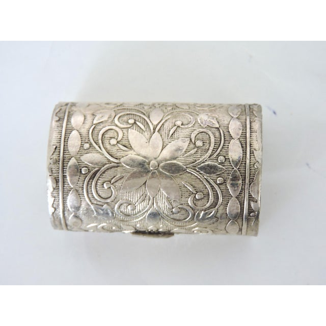 Asian Miniature Silver Chest/Snuff Box For Sale - Image 3 of 7