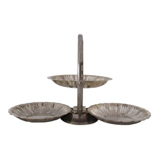 Silver Plated Three-Tier Serving Tray