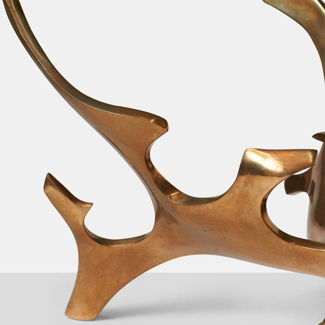 1960s Sculptural Bronze Coffee Table by Fred Brouard For Sale - Image 5 of 7