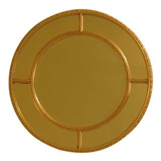 Friedman Brothers Round Gold Framed Beveled Mirror For Sale