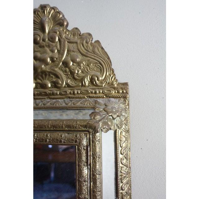 Vintage Brass Cabinet Mirror - Image 5 of 7