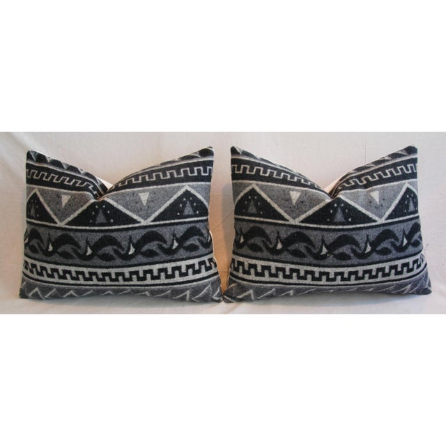 1950s Trading Camp Wool Blanket Pillows - A Pair - Image 6 of 11