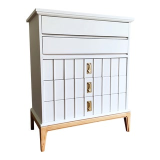 1970s Dixie White and Natural Dresser For Sale