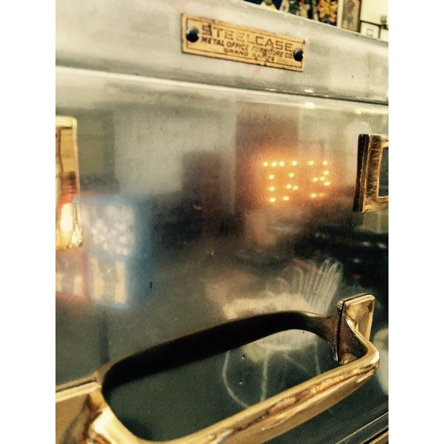 Vintage Polished Modern Metal Steelcase 8-Drawer File Cabinet - Image 6 of 8