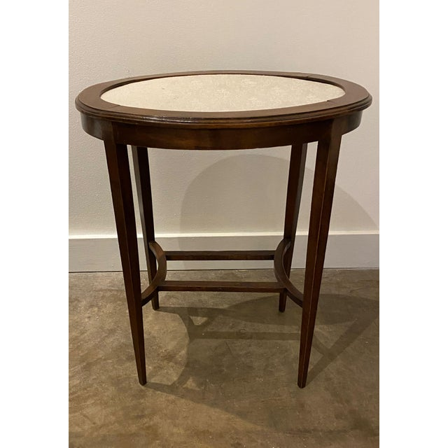 Italian Walnut Tea Table and Chairs - 3 Pieces For Sale - Image 4 of 10