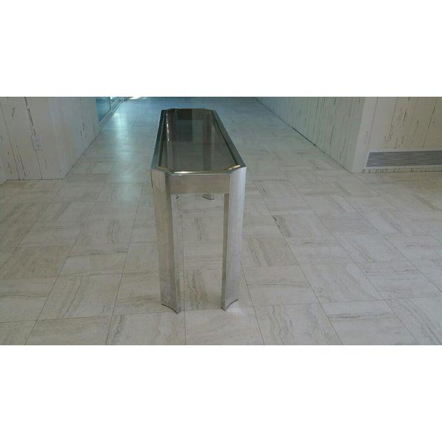Aluminum & Brass Sofa Table - Image 4 of 6