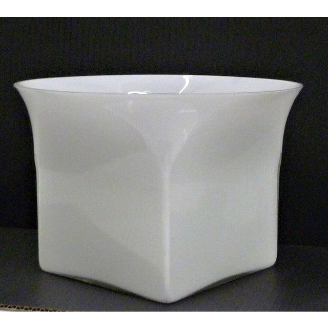 Italian 1960s Vintage Sergio Asti for Venini, Murano Mid Century Modern Cased White Glass Vessel For Sale - Image 3 of 13