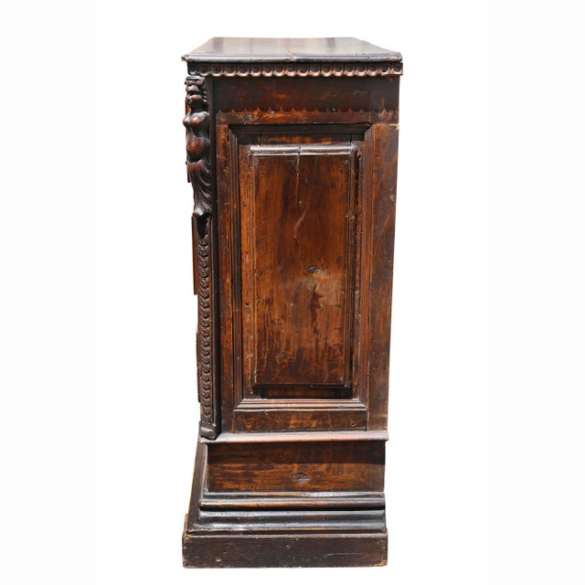 Walnut Italian Baroque Walnut Commode For Sale - Image 7 of 10