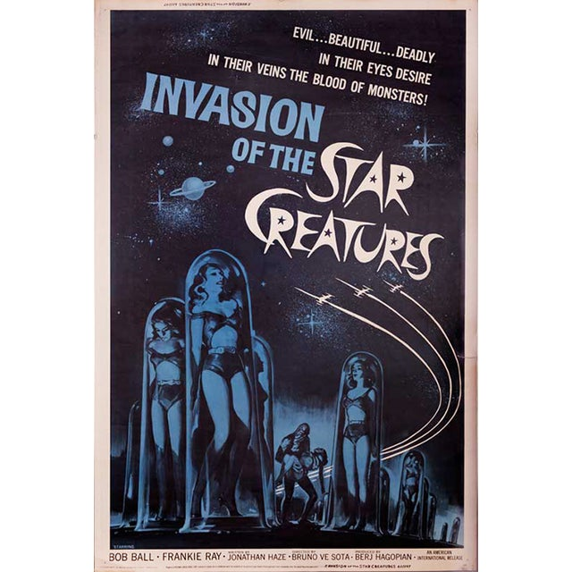 Invasion of the Star Creatures Drive-In Poster - Image 1 of 2