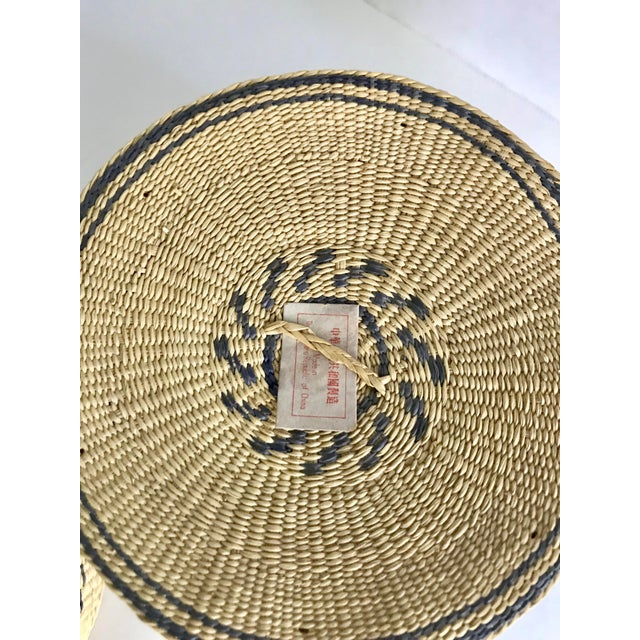 A lovely set of nesting catch-alls from the Republic of China made in the 1960s. Details are blue. All baskets fit...