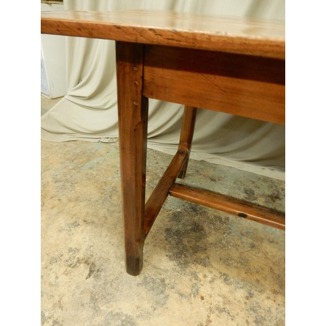 Early 19th Century 19th Century French Walnut Farm Table For Sale - Image 5 of 10