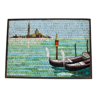 Venetian Glass Mosaic Scene For Sale