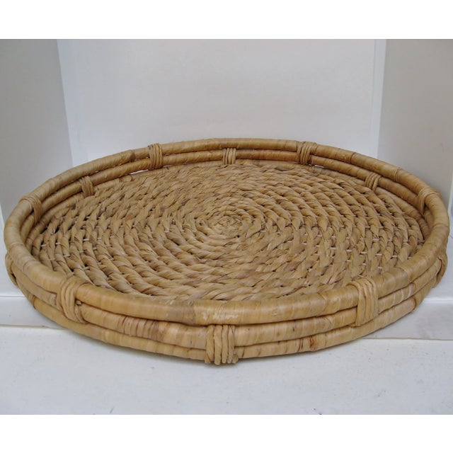 Nautical Oversize Woven Grass Hanging Basket For Sale - Image 3 of 4