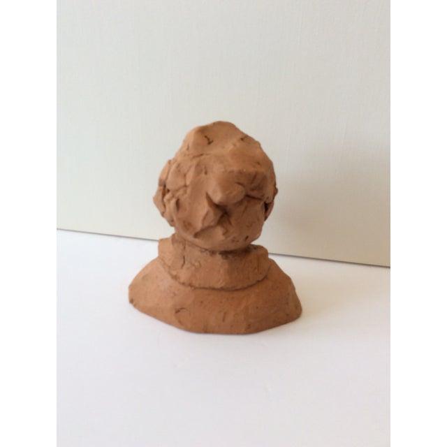 1970s Ceramic Portrait Bust 1970s For Sale - Image 5 of 7