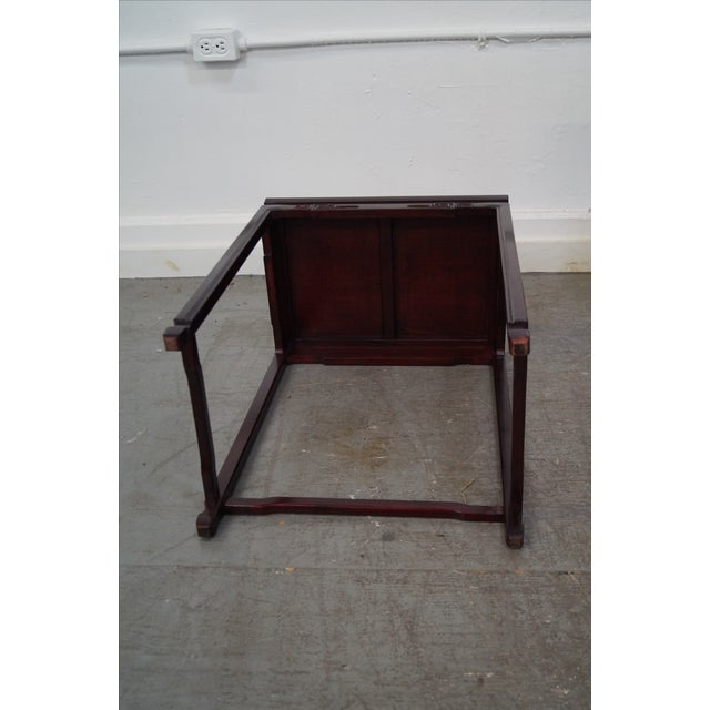 Brown Chinese Rosewood Nesting Tables - Set of 4 For Sale - Image 8 of 9