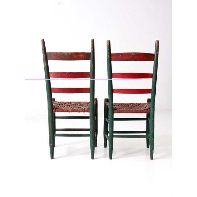 Antique Primitive Chairs - a Pair For Sale - Image 4 of 13 - Antique Primitive Chairs - A Pair Chairish