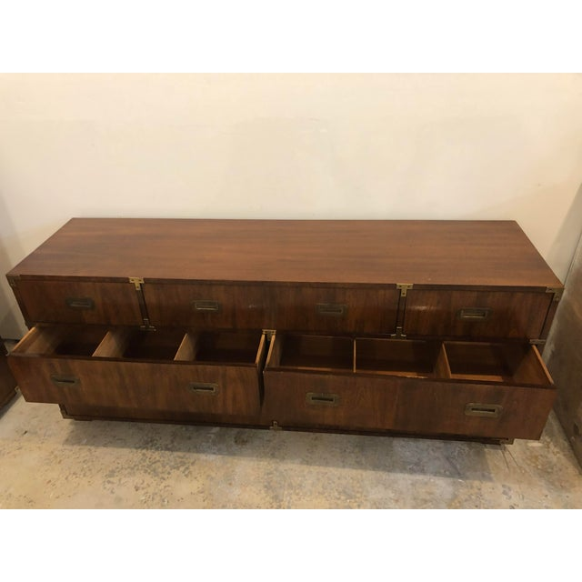 20th Century Campaign Henredon Triple Dresser For Sale - Image 9 of 13