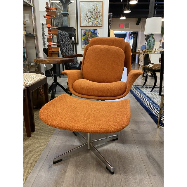 Mid-Century Womb Chair With Ottoman From Stendig Furniture For Sale - Image 11 of 11