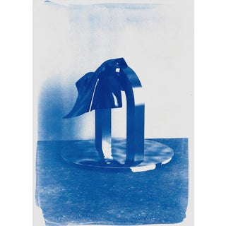 Clear Plastic#2, Handprinted Blue Cyanotype on Watercolor Paper, 50x70cm , Handprinted Edition For Sale