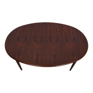 Danish Rosewood Large Oval Expanding Dining Table For Sale