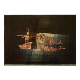 "1990 Paul Klee ""Battle Scene From the Imaginary Comic Opera ""The Seafarer"""", First German Edition Poster For Sale"