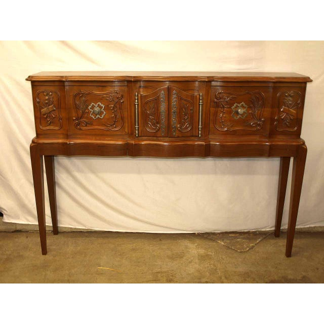 Early 20th Century Carved Walnut French Console For Sale - Image 5 of 10