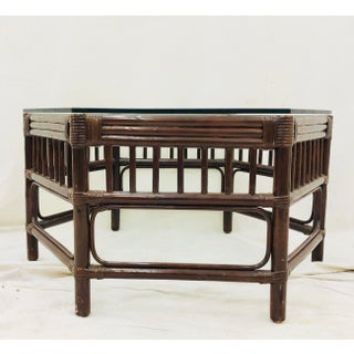 Vintage Bent Bamboo & Rattan Coffee Table Preview