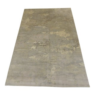 Room and Board Wool Camouflage Pattern Area Rug For Sale
