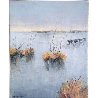 Small Painting by French Artist Zarou For Sale
