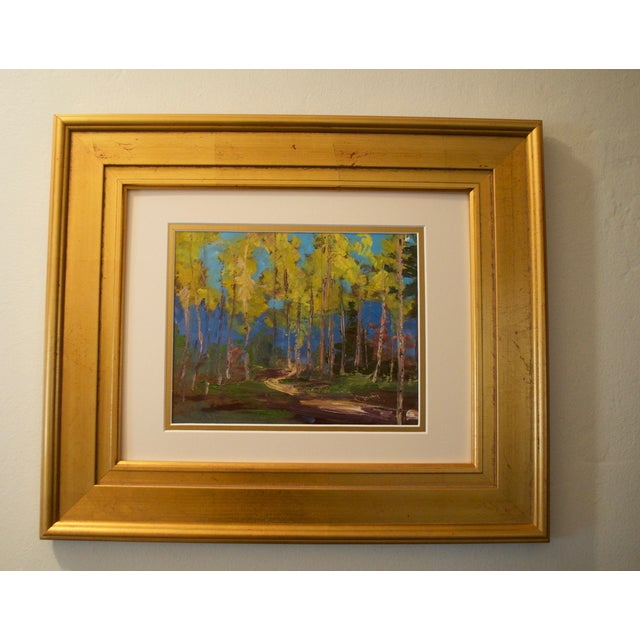 Yellow Aspen Trees Painting - Image 2 of 5