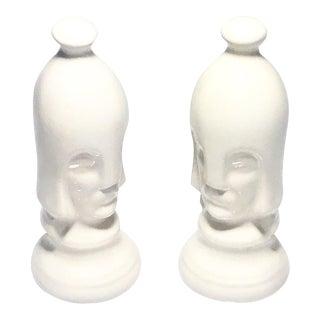 Mid-Century Porcelain Guards - A Pair