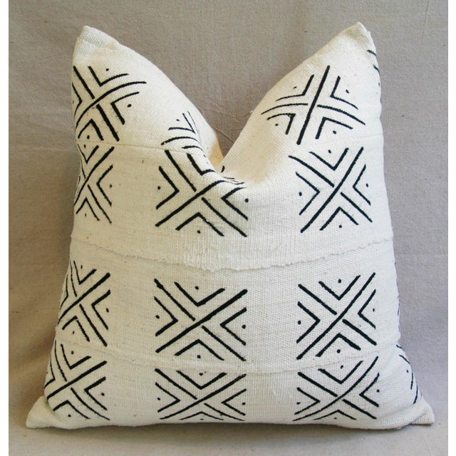 African Mali Mud Cloth Tribal Textile Pillow - Image 2 of 5