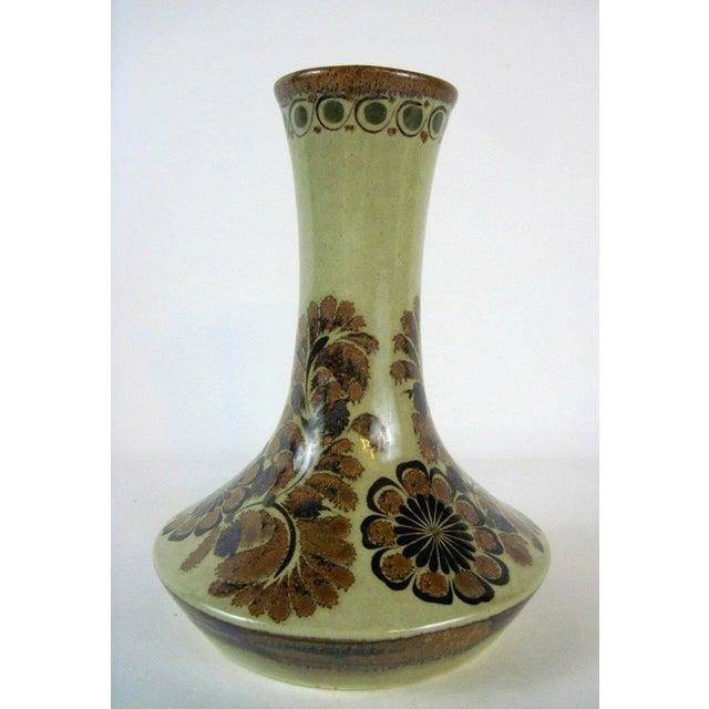 Brown Floral Vase by Carlos Villanueva Circa 1970s - Image 2 of 5