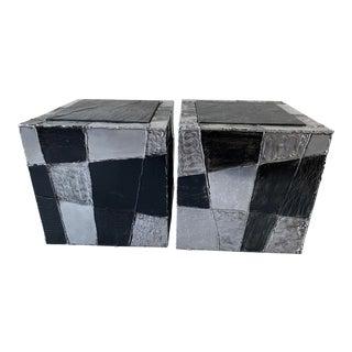 Paul Evans Pe-37 Argente Cubes - a Pair For Sale