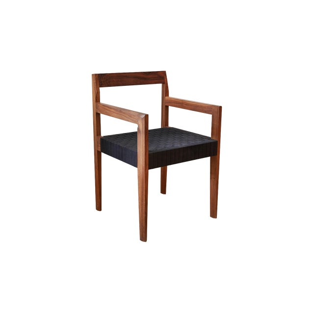 Modern Casey McCafferty Faceted Dining Armchair For Sale