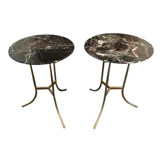 1970s Mid-Century Modern Cedric Hartman Side Tables - a Pair For Sale