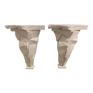 1980 Sirmos Plaster Rock Consoles - a Pair For Sale