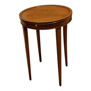 1950s British Colonial Kittinger Small Side Table For Sale