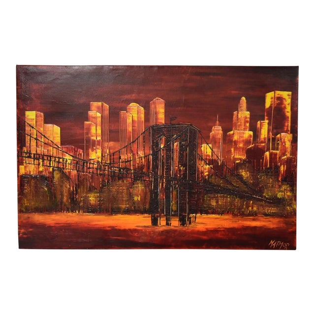 New York City Impressionist Oil Painting For Sale