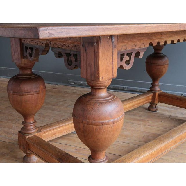 Mid 19th Century Antique Jacobean Style Oak Refectory Table For Sale - Image 5 of 7