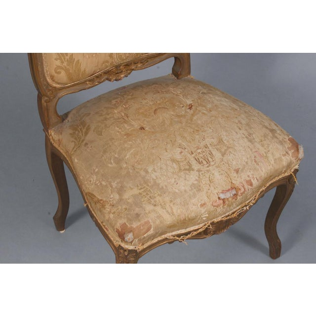 Pair of Rococo Chairs Early 19th Century For Sale - Image 4 of 8