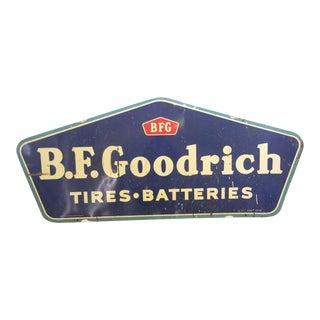 Double-Sided B.F. Goodrich Tin Sign For Sale